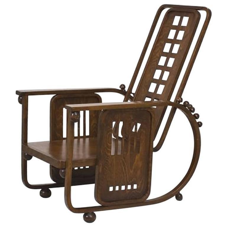 Sitzmaschine Chair By Josef Hoffman, Model No. 670 1