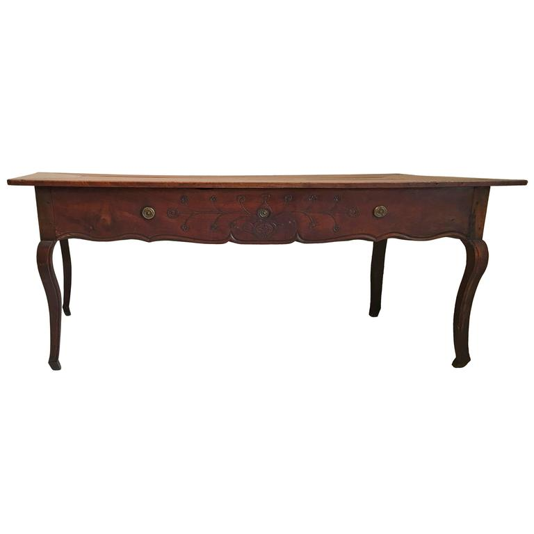 18th century country French  large Walnut Desk /table For Sale