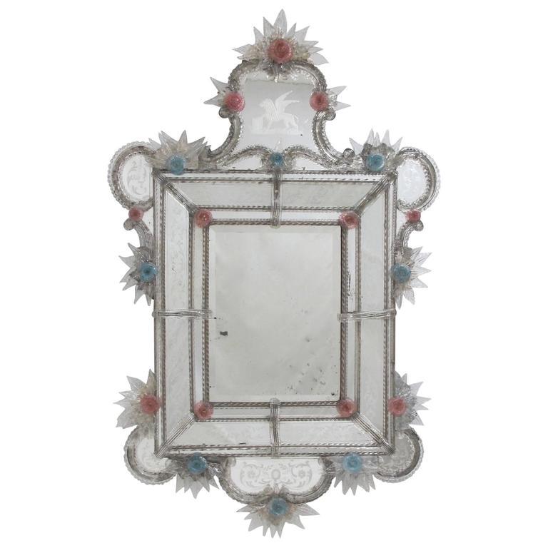 Large 19th Century Italian Venetian Mirror