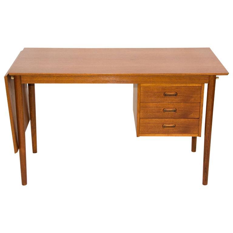 Danish Teak Desk Expandable Arne Vodder For H Sigh And