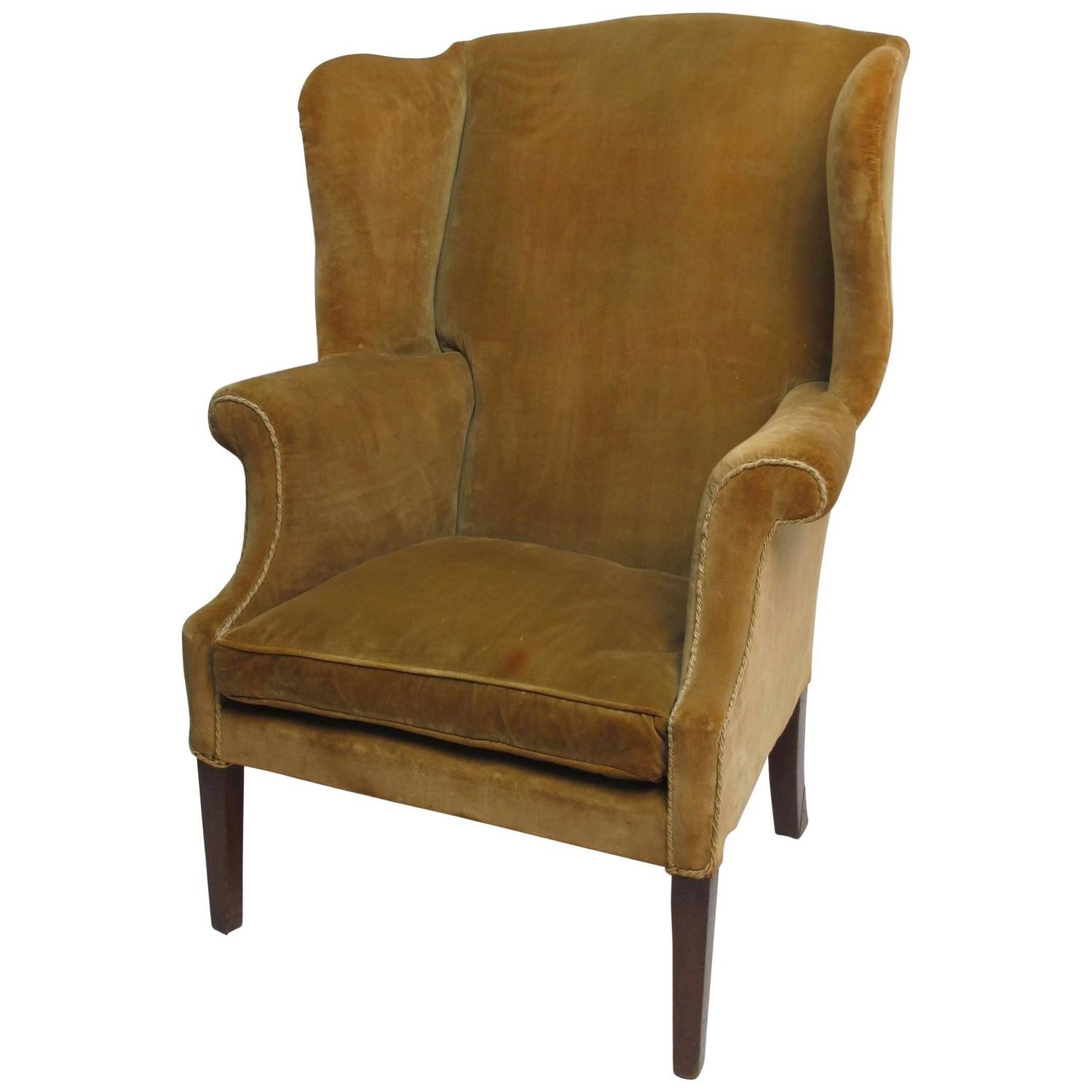 18th Century American Wingback Chair For Sale at 1stdibs