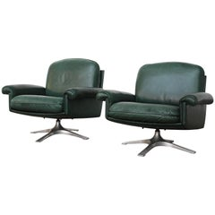 Pair of De Sede DS31 Lounge Chairs