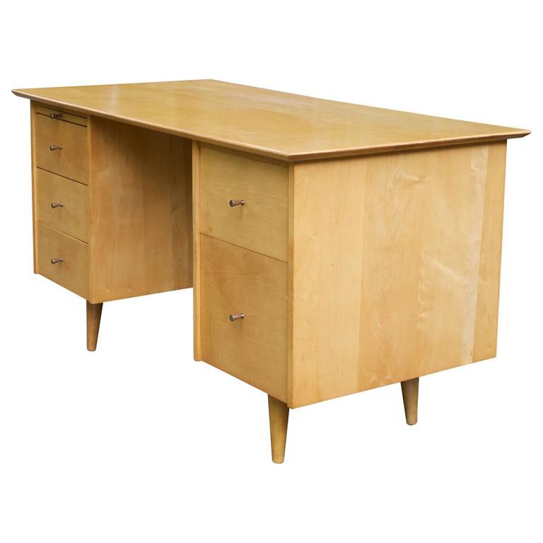 Strange Paul Mccobb Cabin Modern Atomic Birch 5 Drawer Desk Download Free Architecture Designs Scobabritishbridgeorg