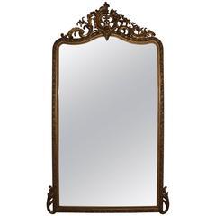 Rococo Revival Mirror in Gold, France, 19th Century