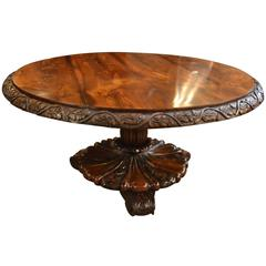 Antique English Anglo-Indian Rosewood Center Table, circa 1840-1860