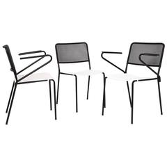Mathieu Matégot, Set of Three Chairs, circa 1950