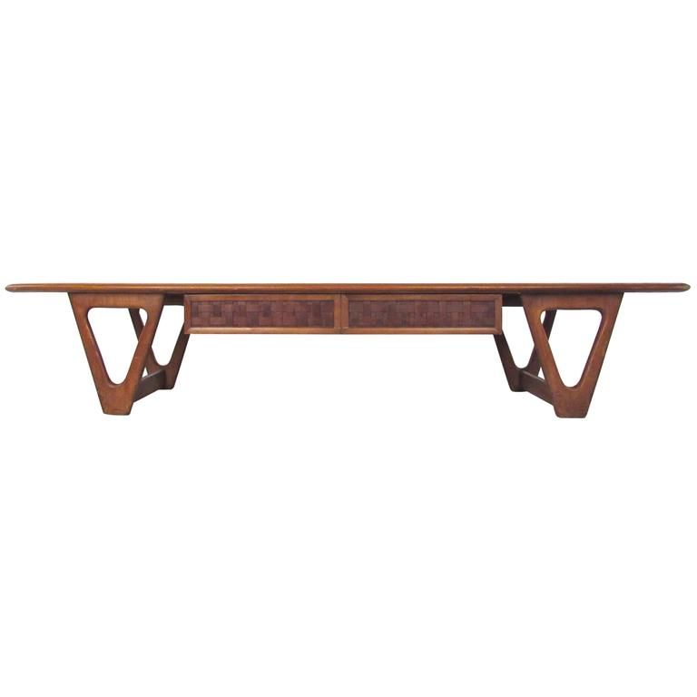Mid-Century Lane Coffee Table by Warren Church For Sale