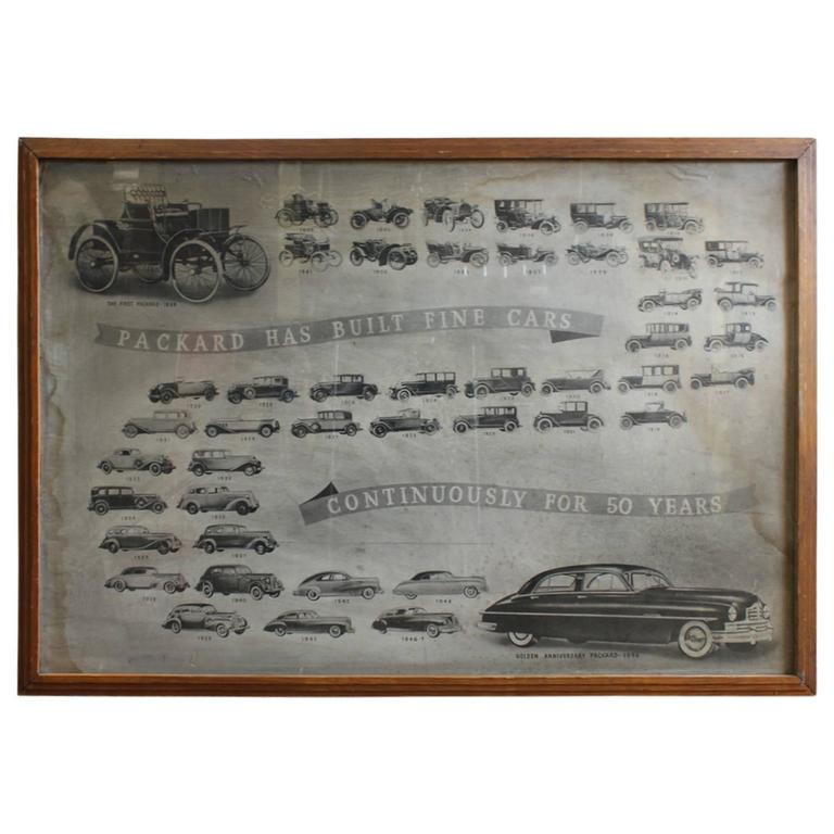 Original 1940s Packard Car Company Poster For Sale