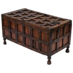 Iron-Bound Stick Box from British Colonial India 'The Raj'