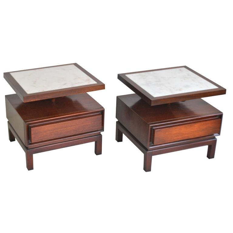 Pair of Mid-Century Sculptural Side Tables