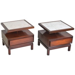 Pair of Midcentury Sculptural Side Tables