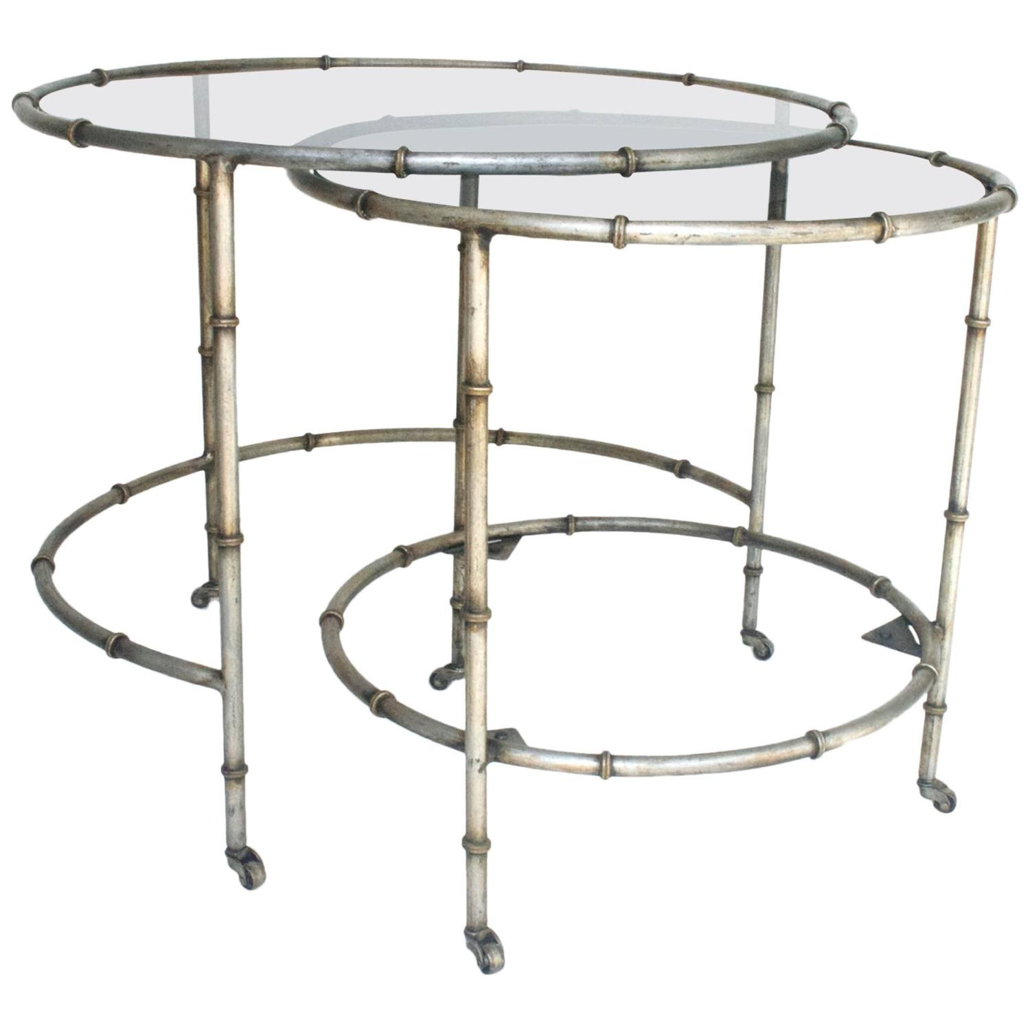 Round Nesting Tables In Silver At 1stdibs. Full resolution  portraiture, nominally Width 1500 Height 1500 pixels, portraiture with #766D55.