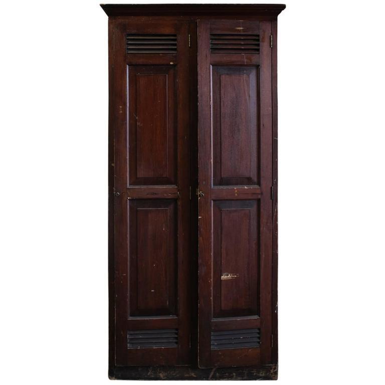 Antique American School Wood Lockers