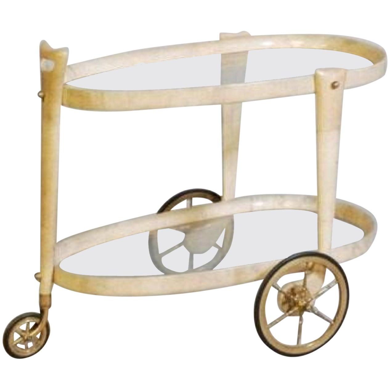 A Rare and Unusual Aldo Tura Bar Cart
