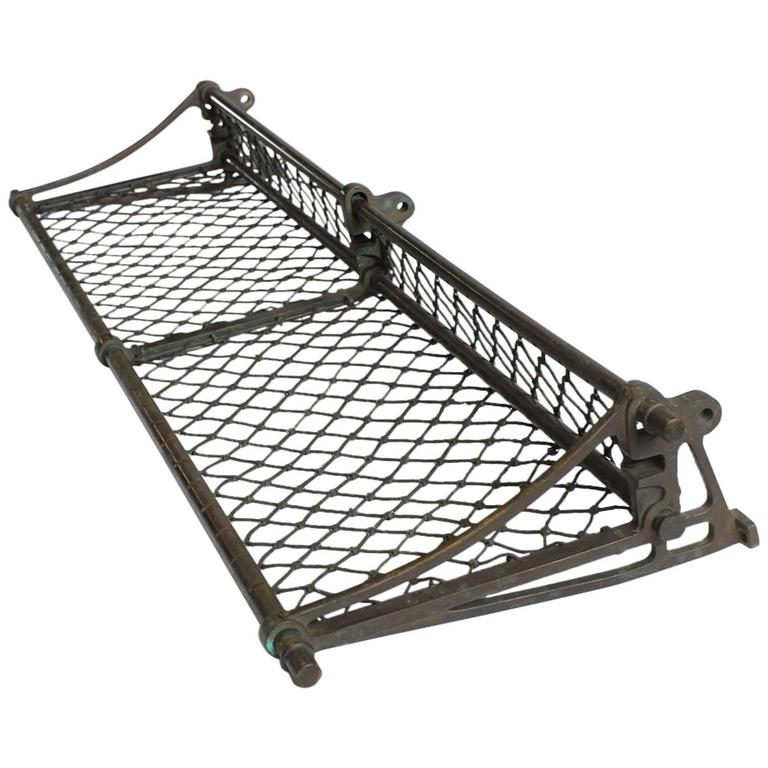 Antique American Train Luggage Rack For