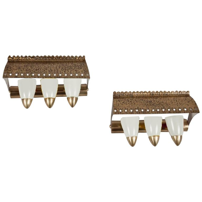 Pair of Sconces, Italy, 1960s