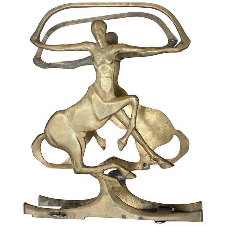 Rare Art Deco Brass Magazine Stand/Rack
