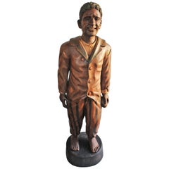 Hand-Carved and Painted 19th Century Cigar Store Figure
