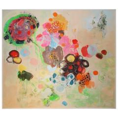 Abstract Mixed-Media Painting on Canvas