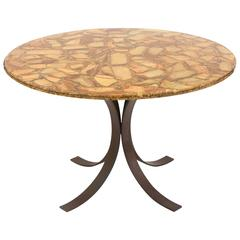 Agate and Bronze Dining Table