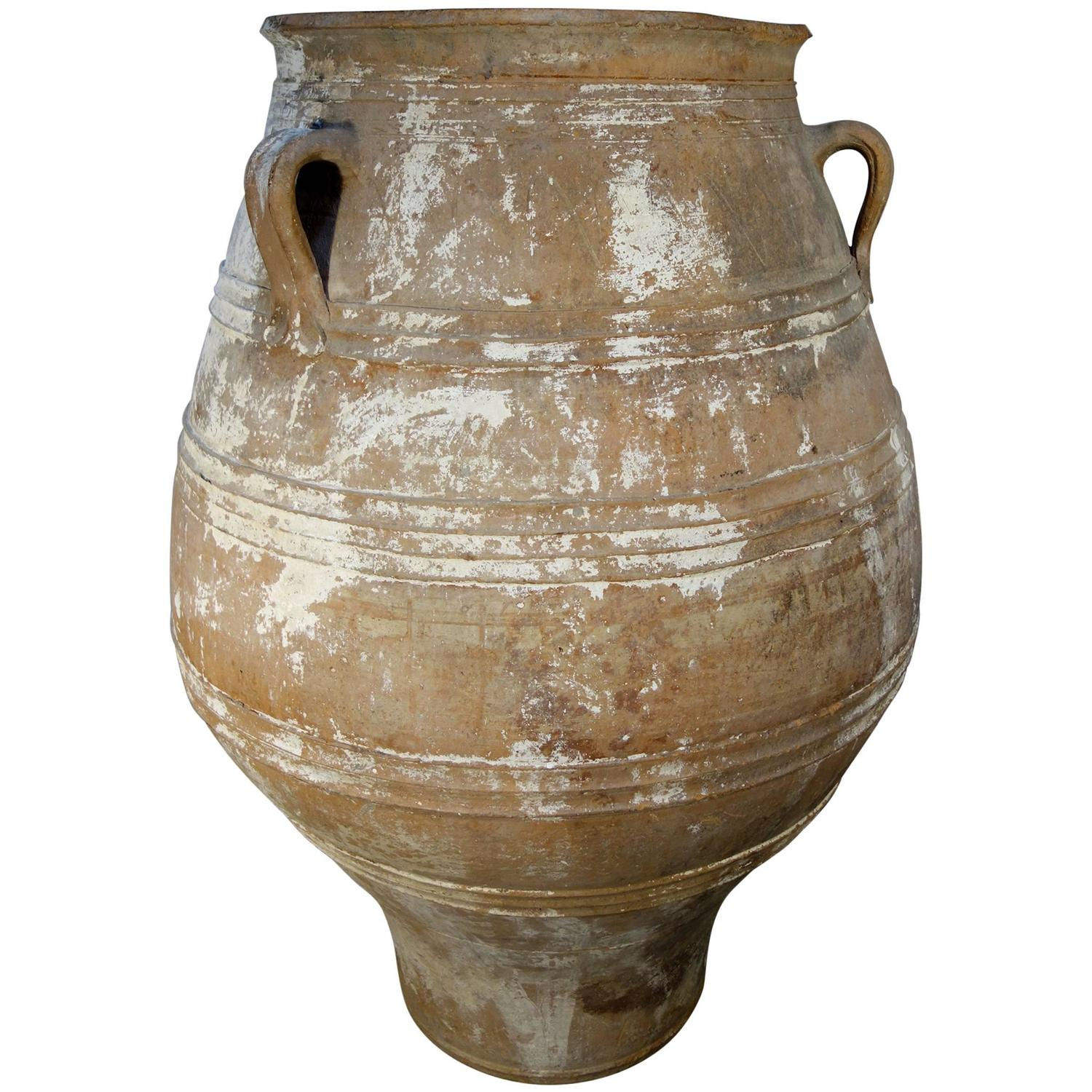 Terracotta planters and jardinieres 151 for sale at 1stdibs 19th century antique large mediterranean terracotta amphora jar white patina reviewsmspy