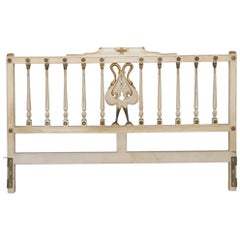 Cream and Gilt Painted Carved Headboard