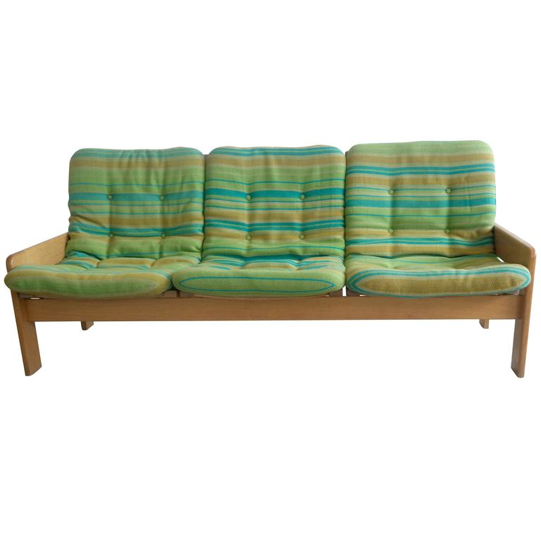 Sofa in Beechwood By Yngve Ekstrom for Swedese 1970 at 1stdibs