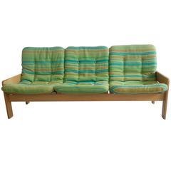 1960s Era Scandinavian Sofa in Beechwood