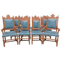 12 R.J. Horner Style Painted Dining Chairs