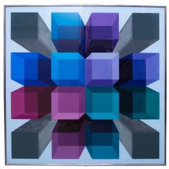 Original Richard Bailey Acrylic on Plexiglass Painting