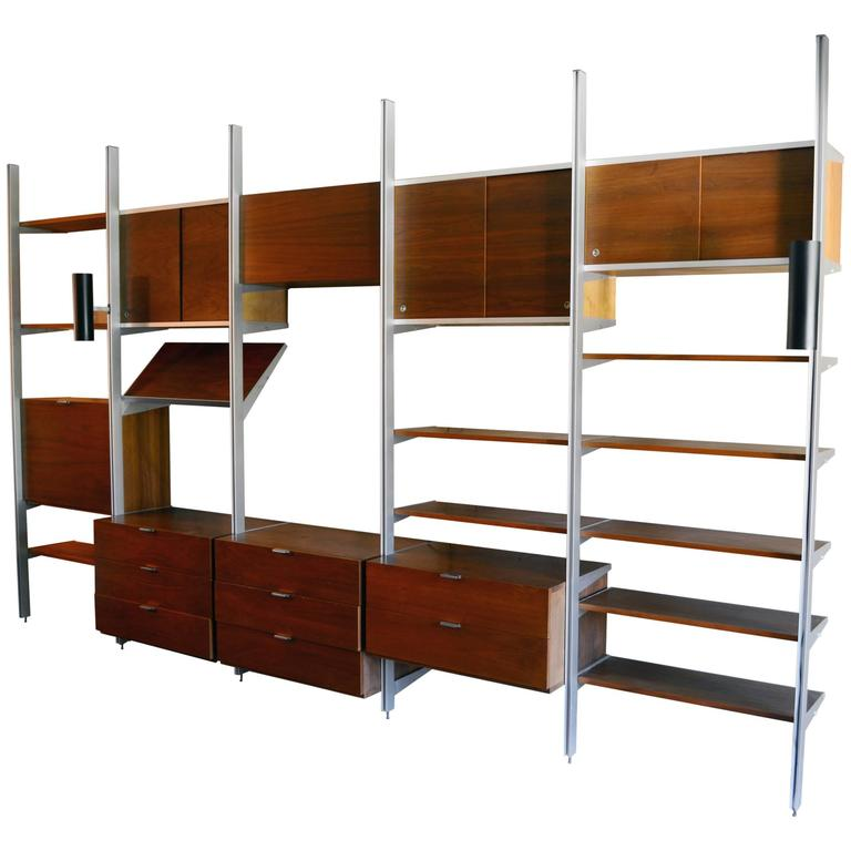 George Nelson Five Bay CSS Wall Unit at 1stdibs
