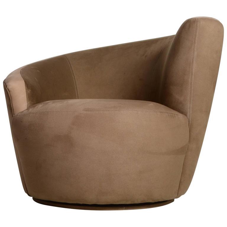 Vladimir Kagan Nautilus Swivel Chair For
