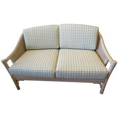 Bamboo and Cane McGuire Mid-Century Settee