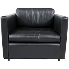 Pfister Lounge Chair in Black Leather
