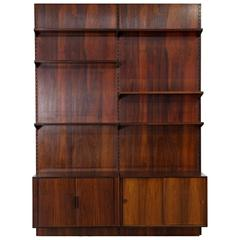 Rosewood Wall Unit by Kai Kristiansen for FM, Denmark