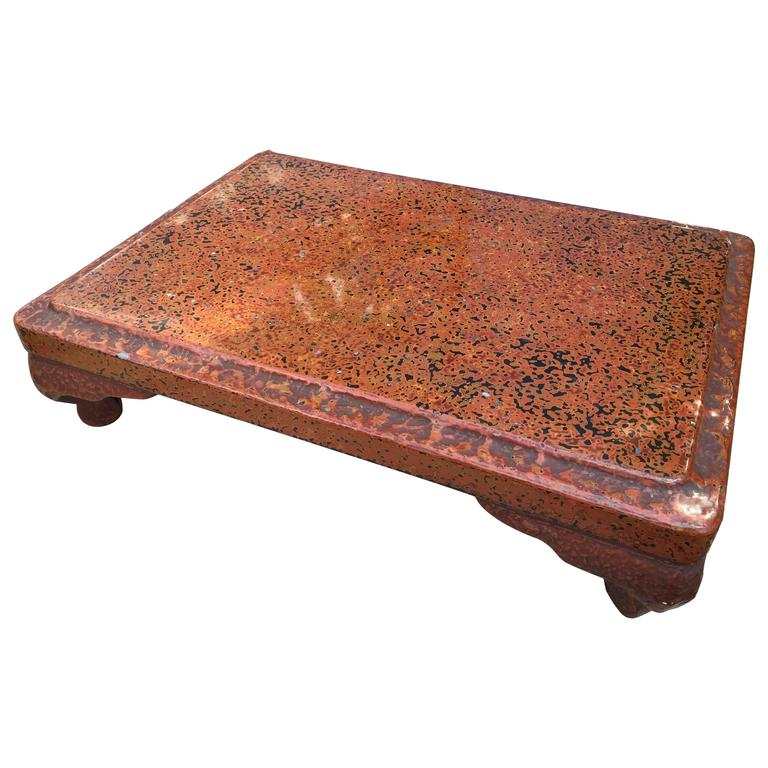 89a73a6eb Stunning Japanese Antique Hand made, Hand Lacquered Tea Display Table For  Sale