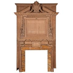 Georgian Carved Pine Chimneypiece with Sienna Marble