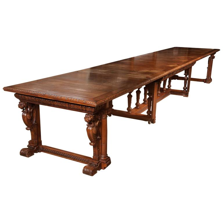 Spectacular Ornate Victorian Carved Walnut Extendable Dining Table At 1stdibs