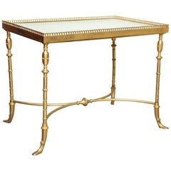 Brass and Marble Cocktail Table