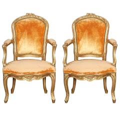 Pair of Louis XV Child-Size Fauteuils