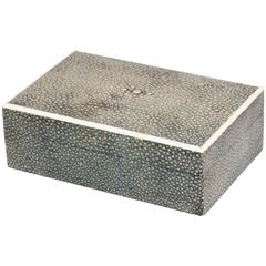 Asprey & Co. English Art Deco Green Shagreen Box