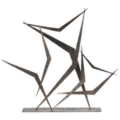 Marcello Fantoni Abstract Metal Sculpture