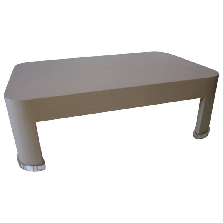 Karl Springer Styled Coffee Table For Sale At 1stdibs