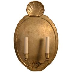 Turn of the Century Metal Wall Sconce