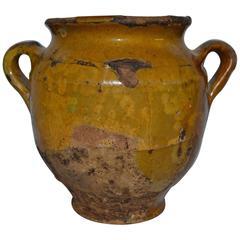Small Rare Terra Cotta Confit Jar