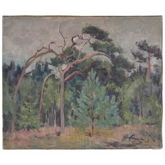 Danish Forest Painting on Canvas
