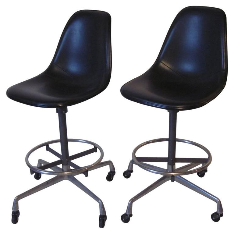 Eames Industrial Architectural Stools At 1stdibs