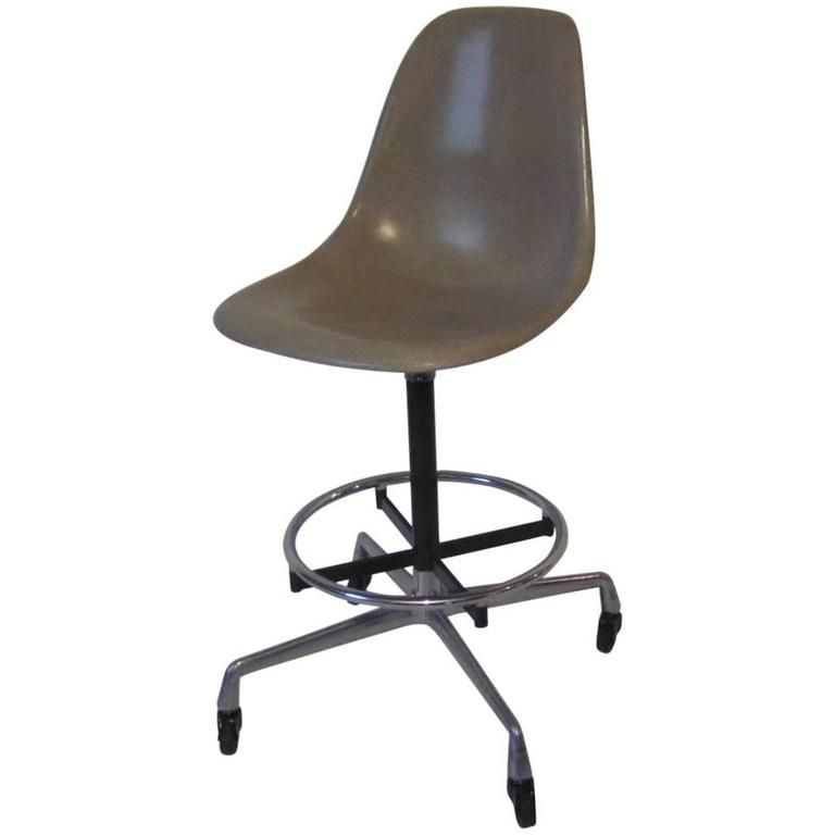 Eames Architectural Industrial Stool At 1stdibs