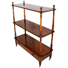 English Serving Trolley or Console Server of Walnut
