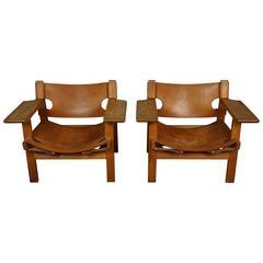 Pair of Børge Mogensen Spanish Chairs